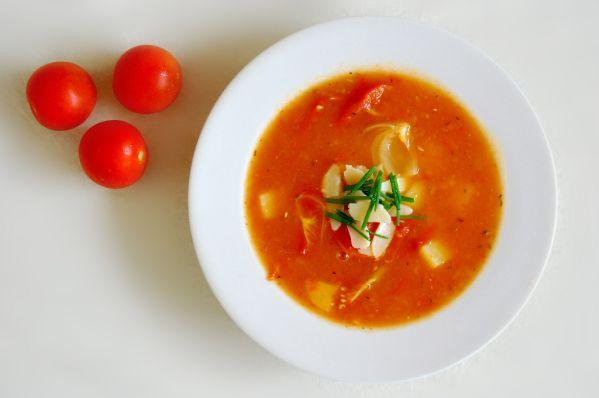 Pečená paradajková polievka |