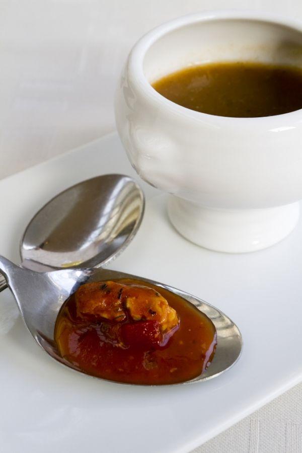 Pikantná polievka z kapra |