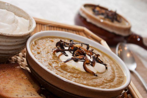 Tekvicovo-zemiaková polievka s kari |