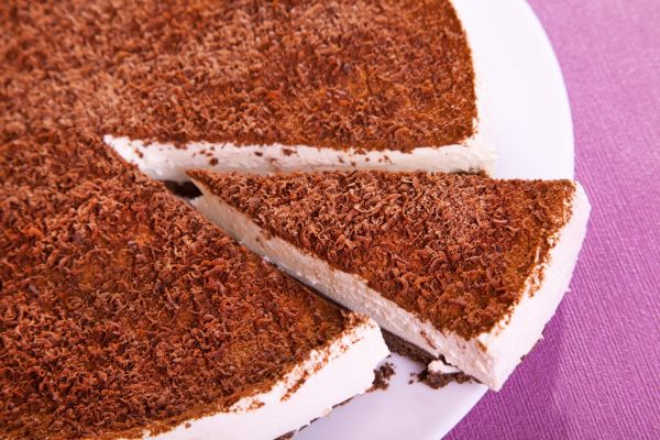 Tvarohový nepečený koláč |
