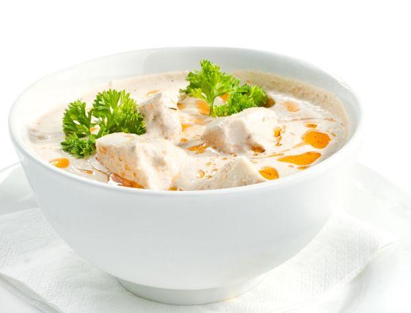 Kurča v polievke so smotanou |