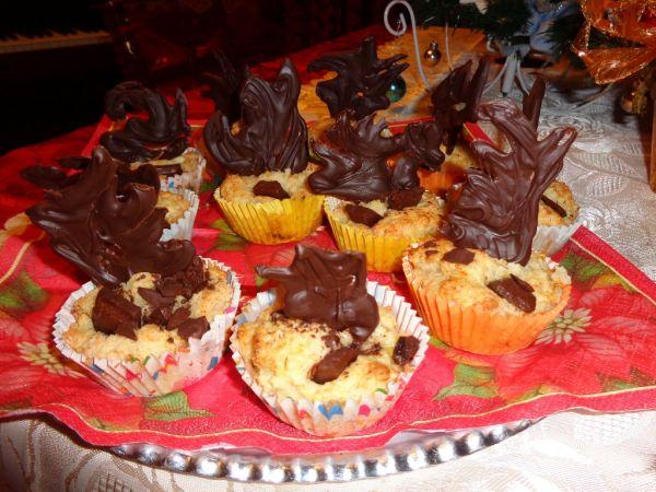Tvarohovo-banánové muffiny s kúskami čokolády ...