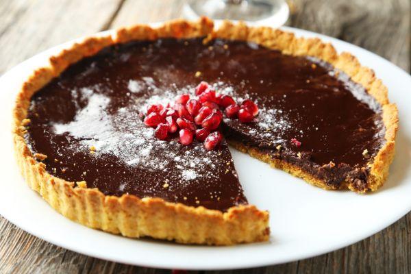 Čokoládovo-orechový tart  