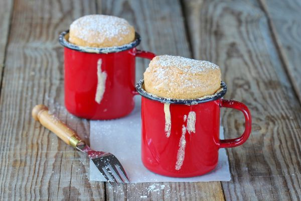 Vanilkový muffin z mikrovlnky |