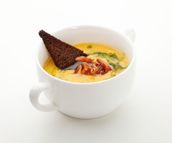 Tekvicová polievka so slaninkou |