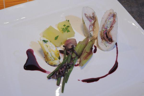 Kuracie závitky s omeletou  