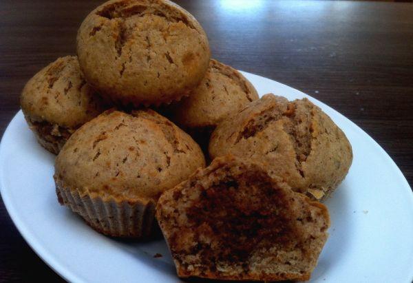 Muffiny s hruškovo-orechovou plnkou |