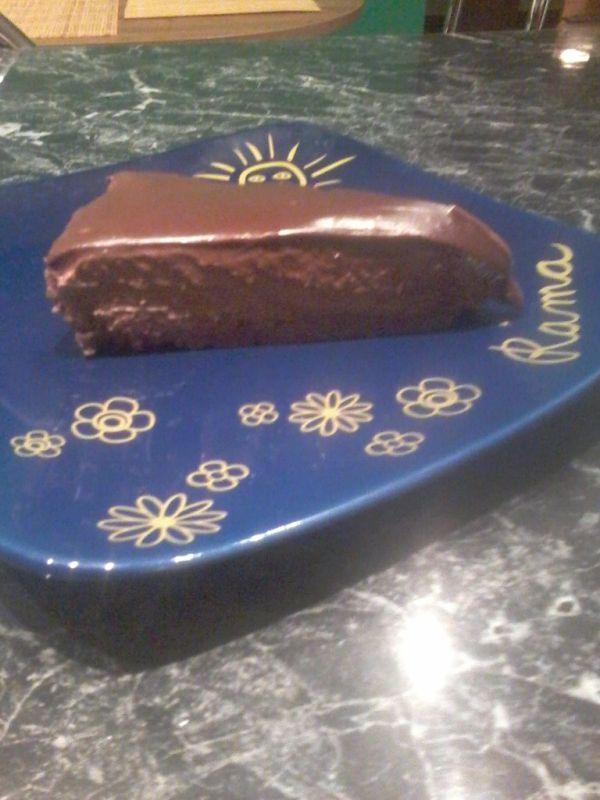 Čokoládový nepečený cheesecake |