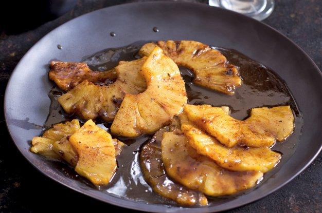 Karamelizovaný ananas s tequilou