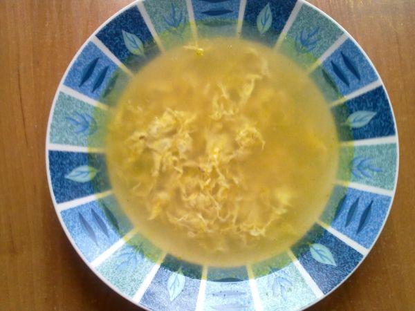 Rascová polievka s vajíčkom |