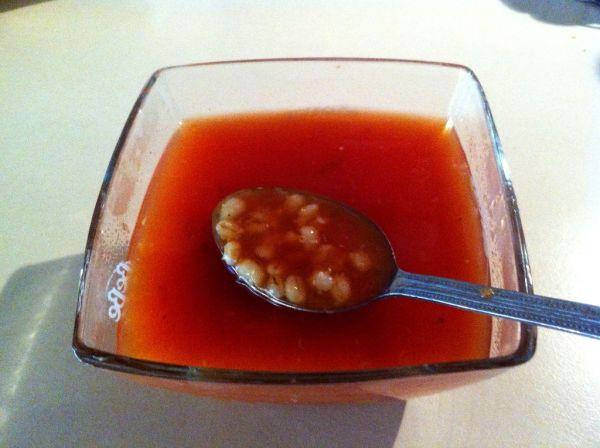 Paradajková polievka s krúpami |