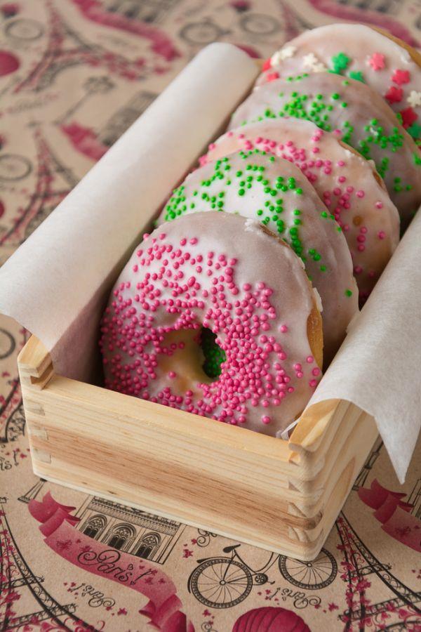 V rúre pečené donuts |