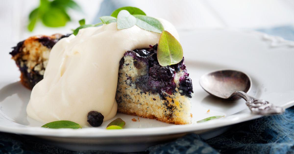 Tvarohovo-čučoriedkový koláč, fotogaléria 1 / 1.