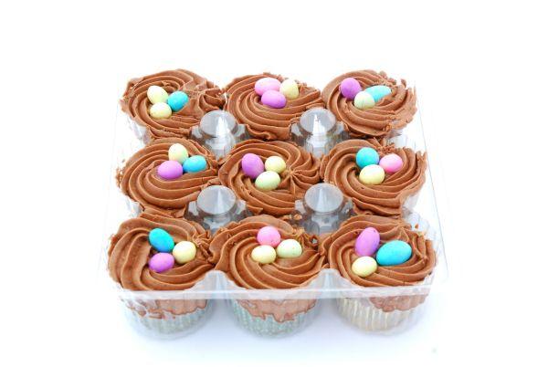 Cupcakes s krémovým hniezdom |