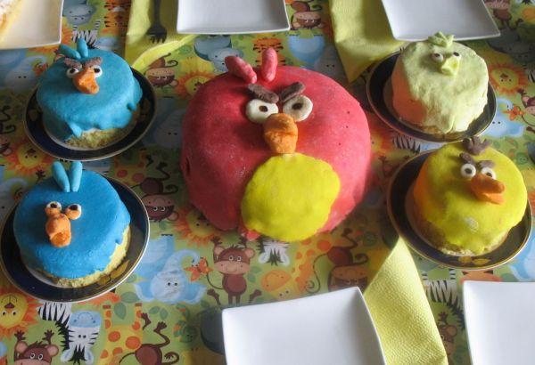 Tvarohová torta  Angry Birds |
