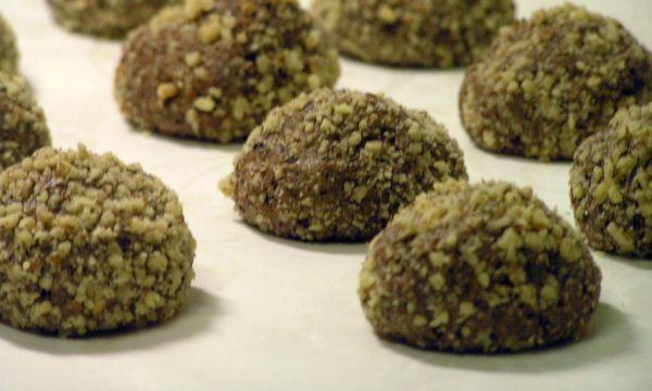 Orechové čoko-višnové bezlepkové koláčiky |