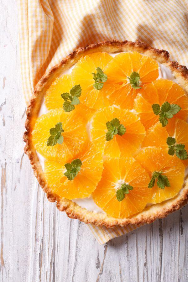 Krehký pomarančový koláč |
