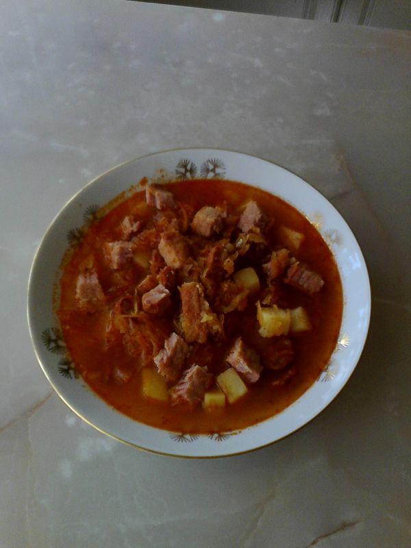 Hustá kapustová polievka |