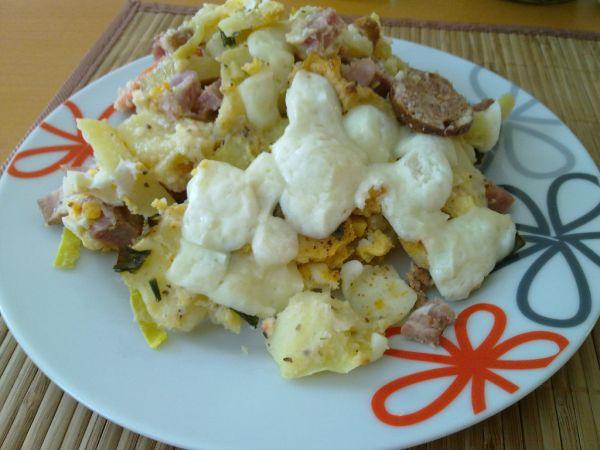 Francúzske zemiaky s kozím syrom |