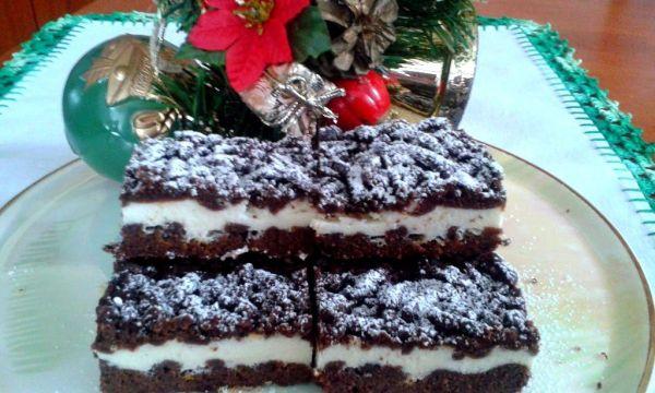 Strúhaný tvarohový koláč |