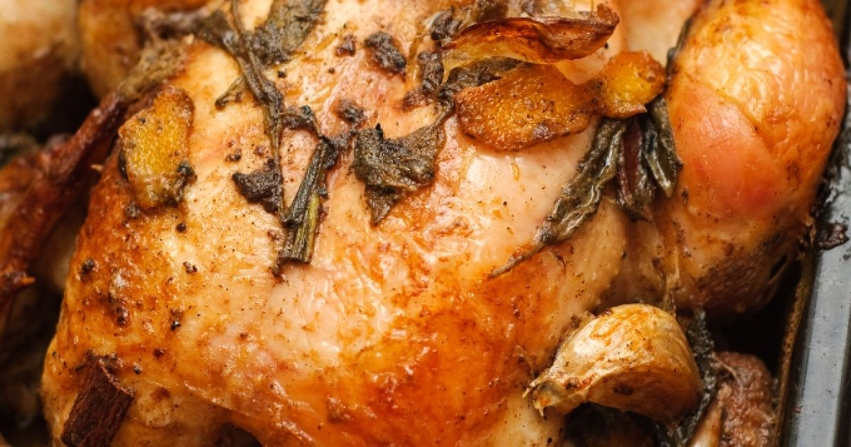 Pečené kura na masle, fotogaléria 1 / 1.
