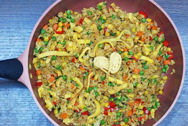 Zeleninové rizoto s opečeným vajíčkom |