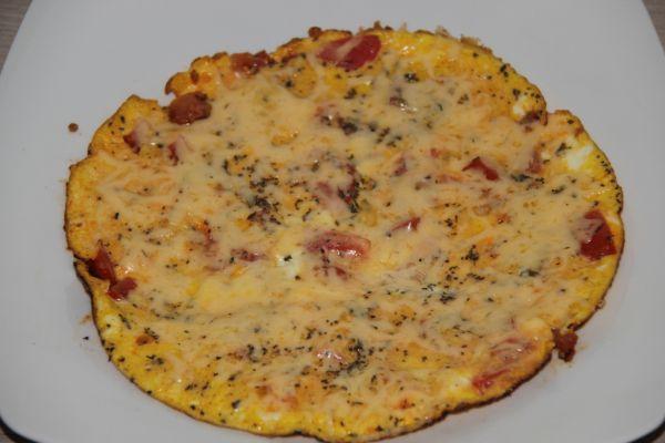 Paradajková omeleta |