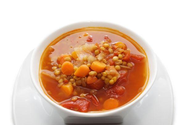 Hustá šošovicová polievka so zeleninou |