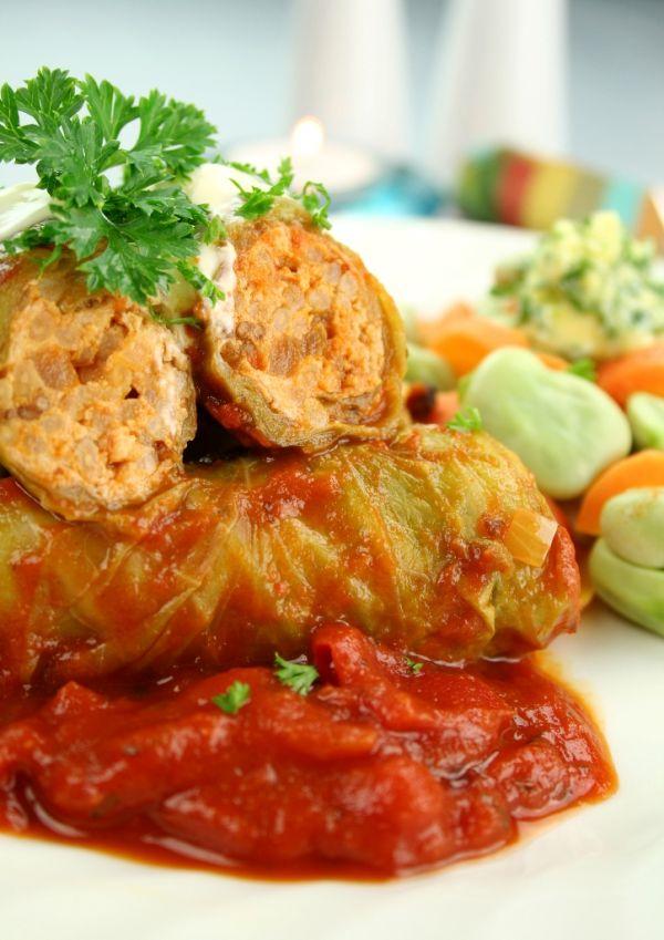 Kapustové závitky v paradajkovej omáčke |