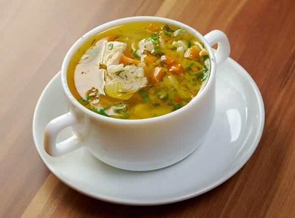 Drobková polievka s ryžou  