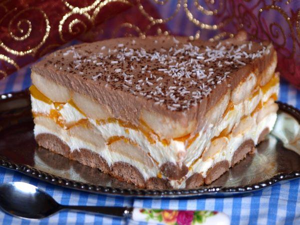 Nepečená broskyňová torta |