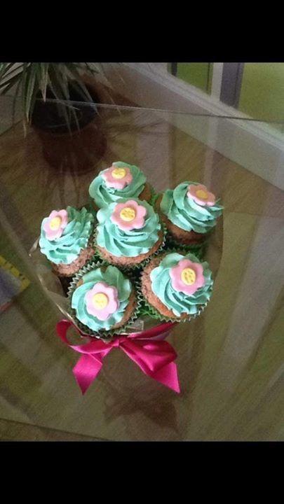 Rozkvitnuté cupcakes |