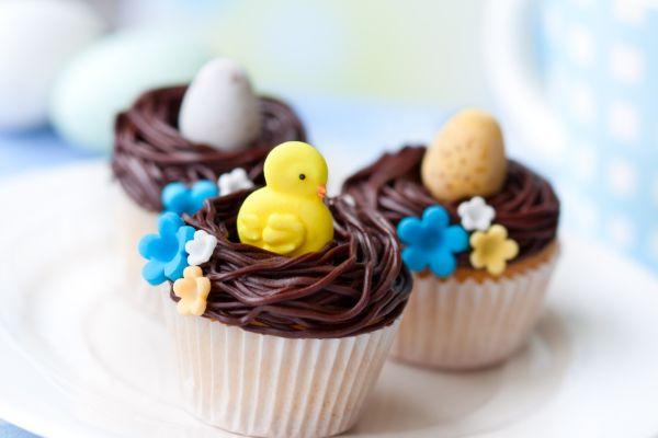 Krémové veľkonočné cupcakes |