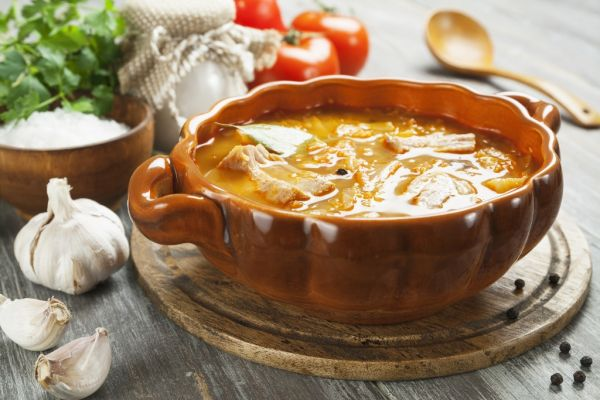 Kapustová polievka s mäsom  