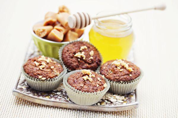 Banánové muffiny s karamelom a čokoládou |