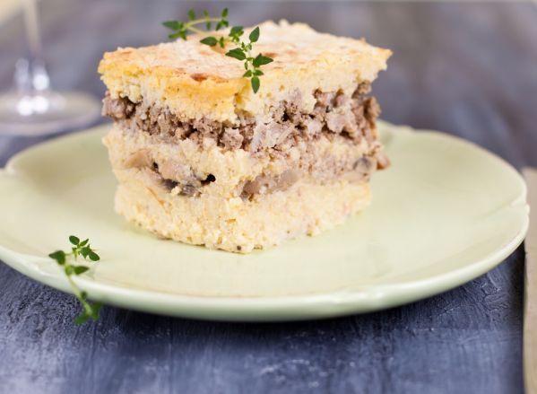Pšenový koláč s hubami |