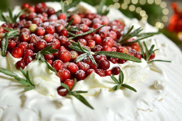 Vianočná Pavlova torta |