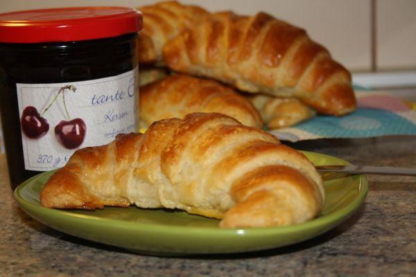 Domáce maslové croissanty |