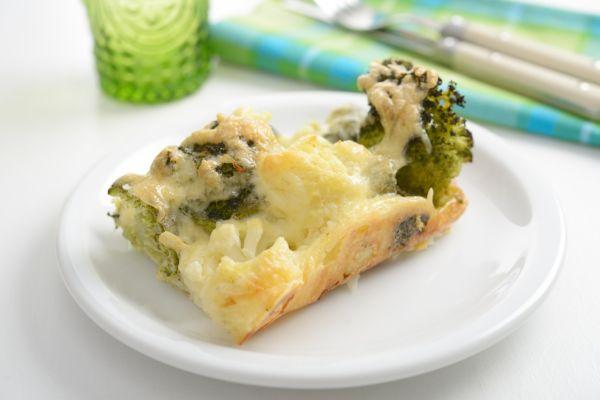Zapečený karfiol s brokolicou |