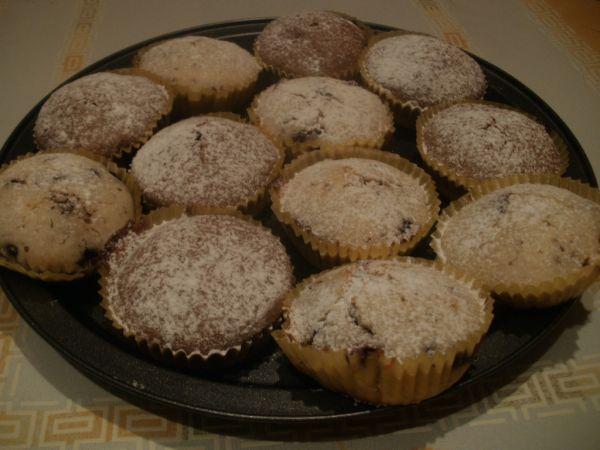 Čučoriedkové hrnčekové muffiny |