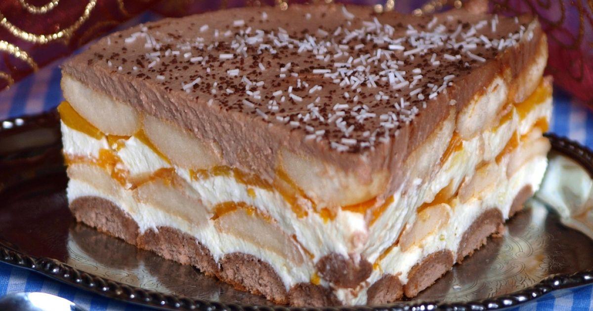 Nepečená broskyňová torta, fotogaléria 1 / 21.