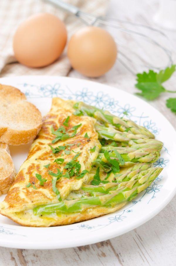 Špargľová omeleta |