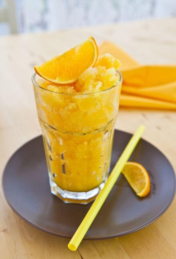 Pomarančová vodová zmrzlina Granita |