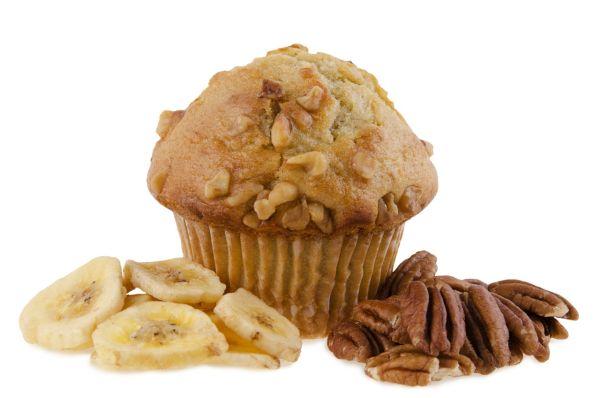 Banánové muffiny s orieškami |