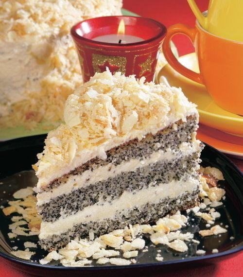 Maková torta s mandľovou posýpkou |
