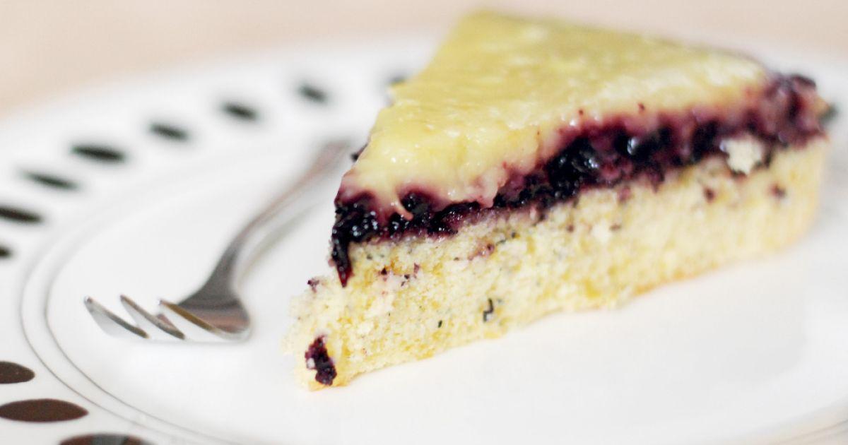Citrónovo-čučoriedkový špaldový koláč, fotogaléria 1 / 12.