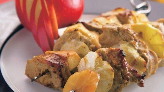 Bravčové na ihlách s jablkami  