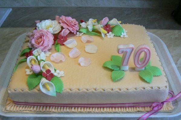 Slávnostná narodeninová torta |