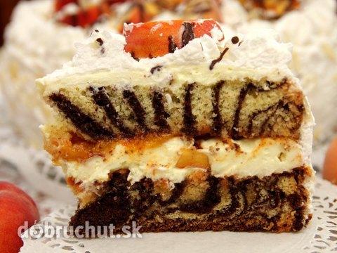 mramorová torta s broskyňami mramorová torta s broskyňami ...