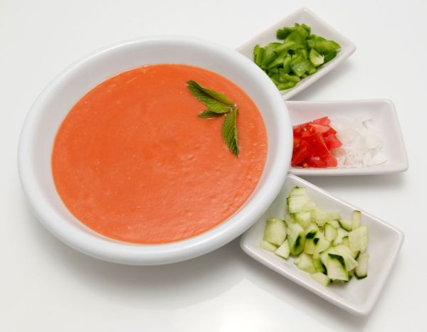 Španielska paradajková polievka (gazpacho) |